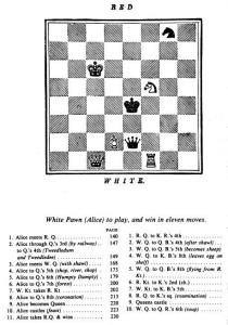 Diagrama de Lewis Carroll de la historia como un juego de ajedrez