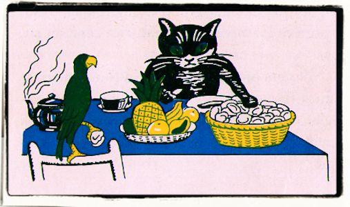 El gato y el loro