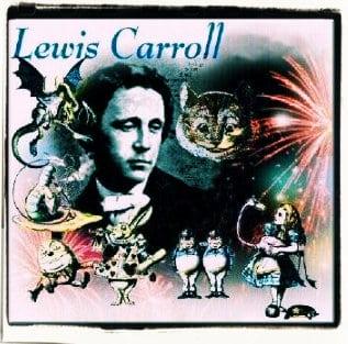 Arreglo gráfico para la conmemoración del centenario de la muerte de Lewis Carroll en 1998